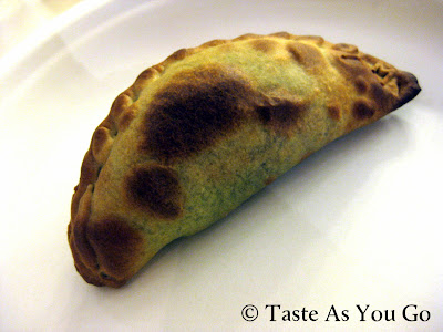 Portobello Empanada from Nuchas in Times Square in New York, NY - Photo by Michelle Judd of Taste As You Go