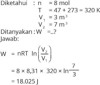 Pembahasan soal fisika bab termodinamika nomor 2