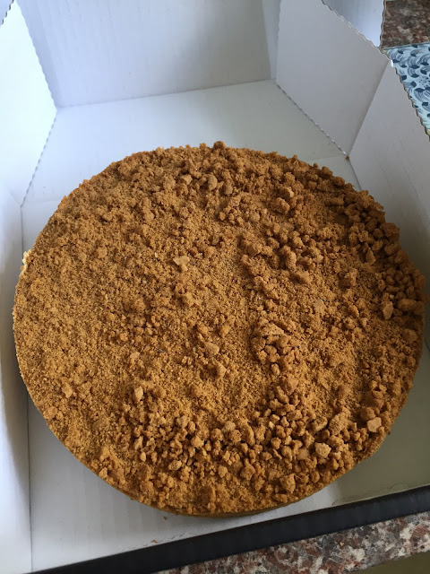 Frozen Lotus Biscoff cheesecake from English Cheesecake Company