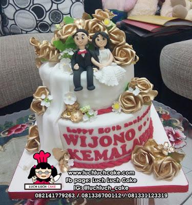 Kue Tart Ulang Tahun Pernikahan Tingkat