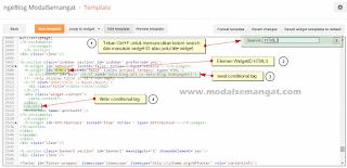 Edit HTML Elemen Widget di Editor Template Blogger