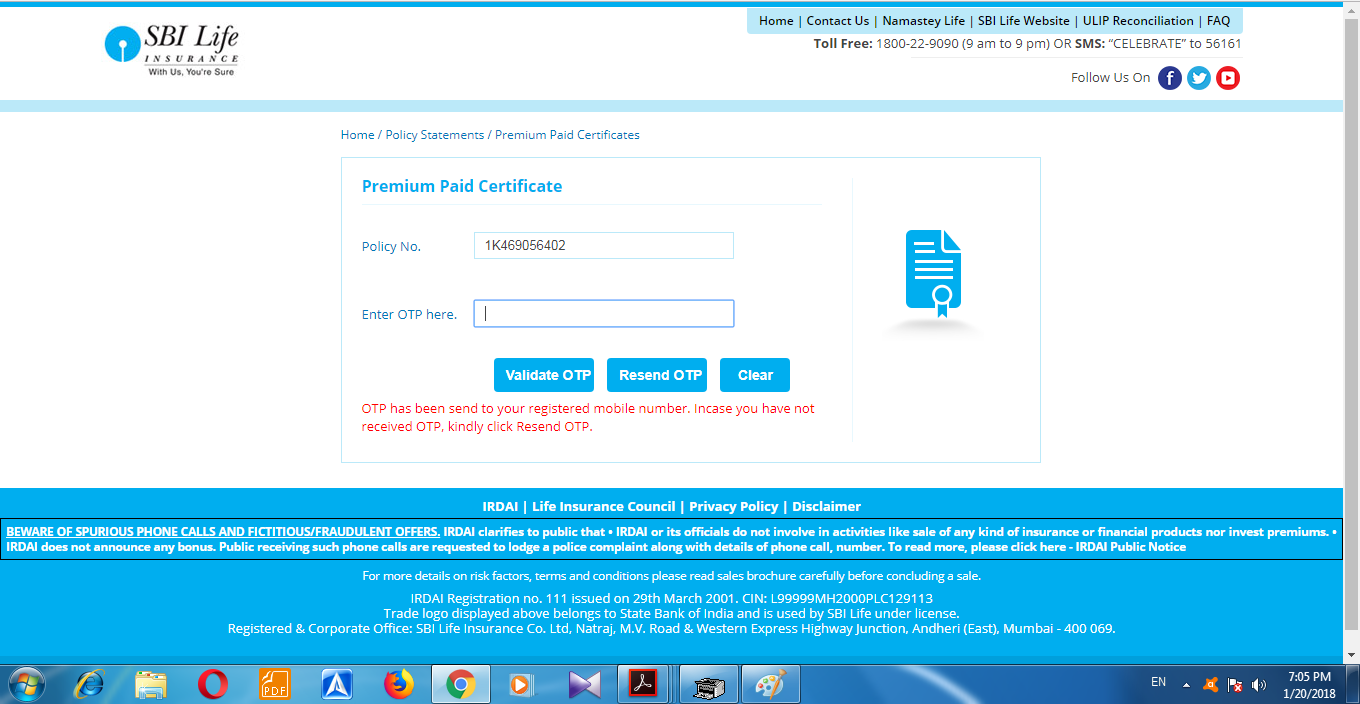 How to Download SBI Life Insurance Premium Paid ...