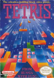 Pantalla de título del Tetris de Nintendo, 1989