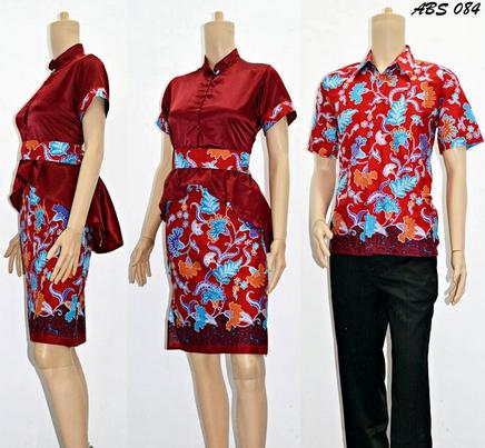 15 Desain Baju Batik Couple Model Terbaru 65b8672f63