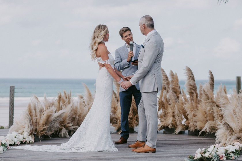 BYRON BAY WEDDING CELEBRANT WITH COOL BOW TIE NINA CLAIRE PHOTOGRAPHY