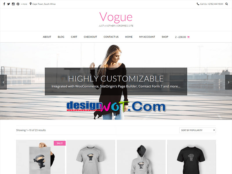 Vogue Responsive Multipurpose WordPress Theme