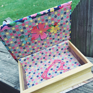 Inside of Love Book with Affectionately Yours DSP created by Spread Joy Stamping