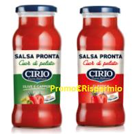 Logo Buoni sconto Salsa Pronta Cirio da stampare