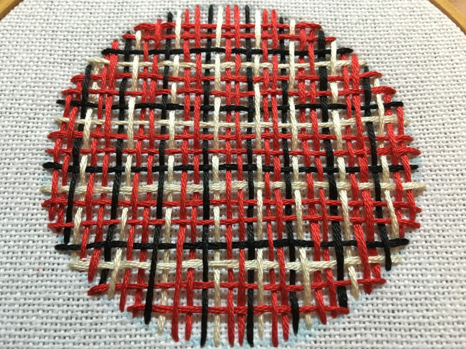 Feeling Stitchy MooshieStitch Monday Needle Weaving Plaid