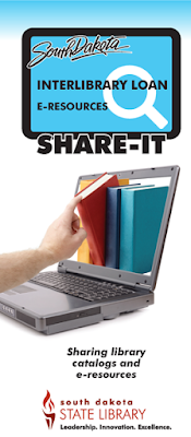 South Dakota Interlibrary Loan E-Resources Share-It. Sharing library catalogs and e-resources. South Dakota State Library.
