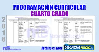 Programación curricular cuarto grado primaria ~ Material Educativo