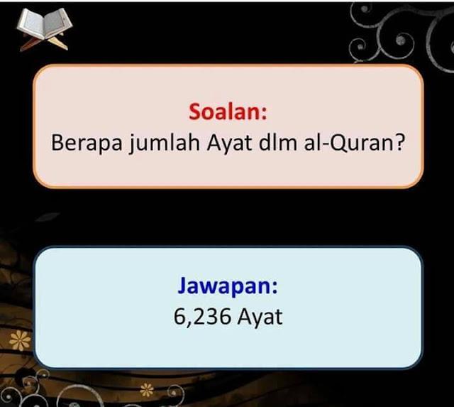salam jumaat, jumlah ayat dalam alquran