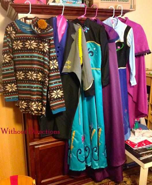 a Frozen DIY wardrobe