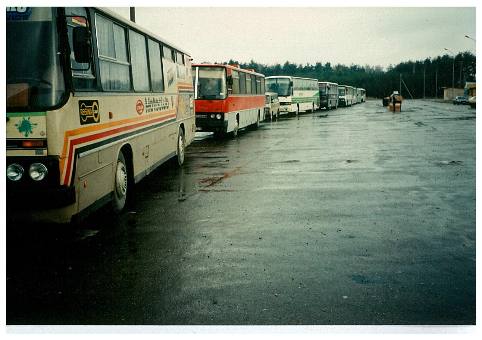 järjekord Leedu - Poola piiril märts 1995