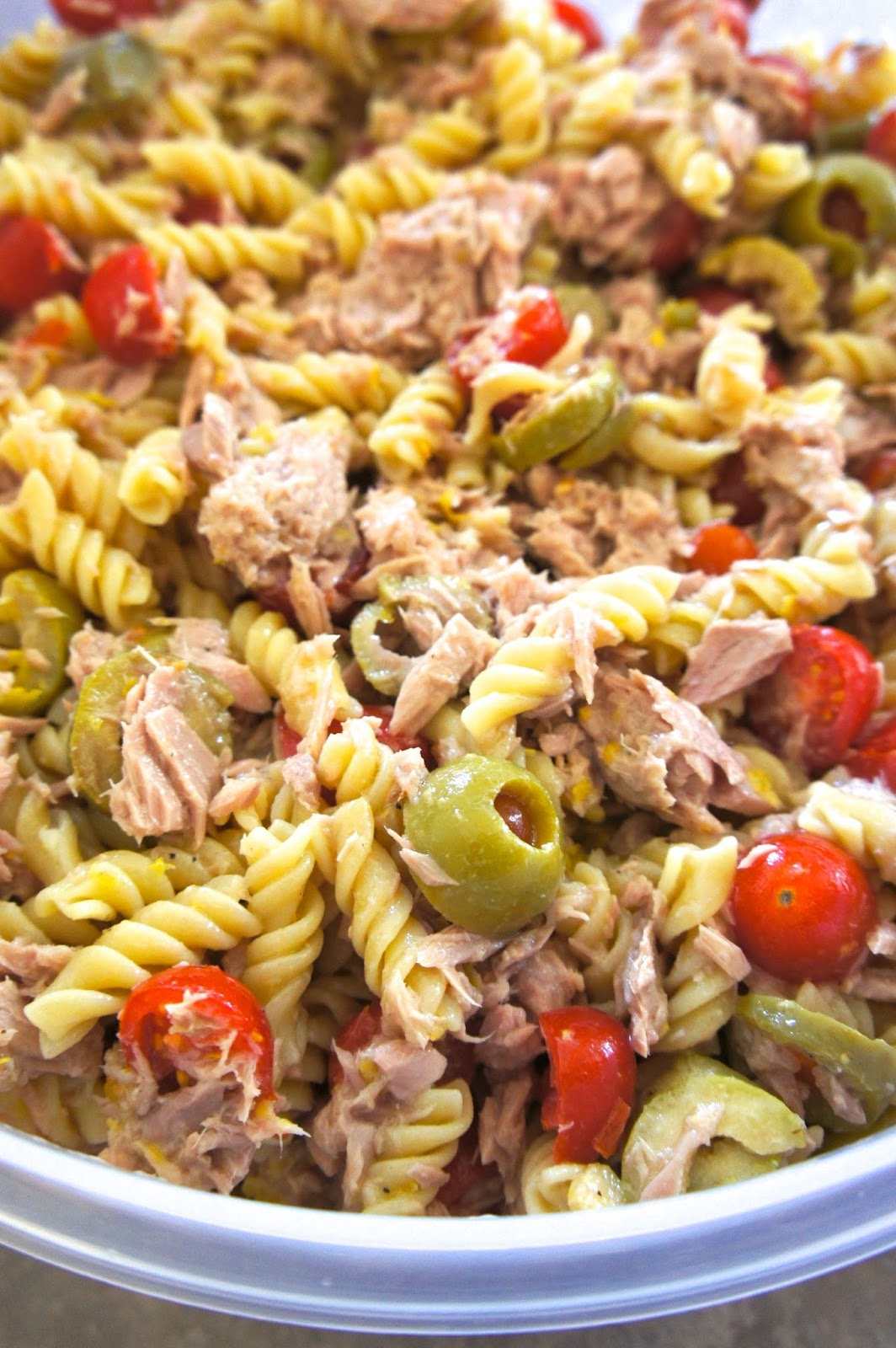 Tuna Pasta Salad with Olives: Savory Sweet an Satisfying