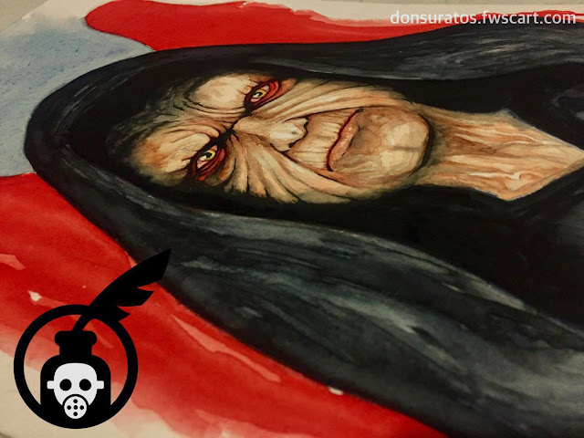 Darth Sidious Watercolor Painting Photo