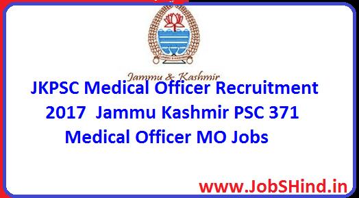 JKPSC Medical Officer Recruitment 2017