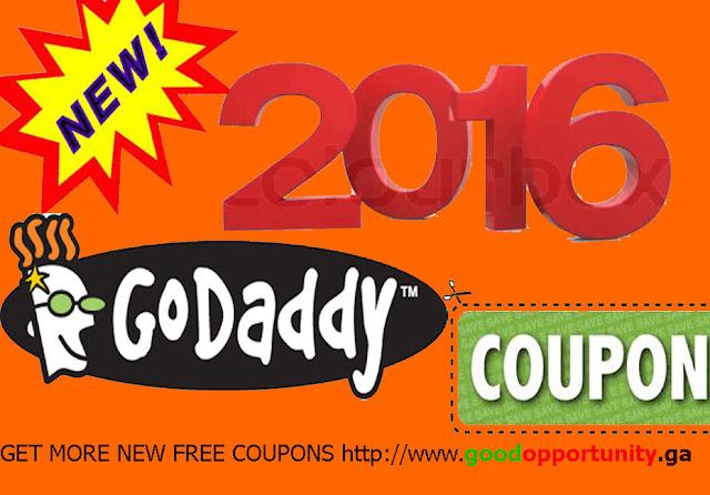Godaddy Coupon code 2016
