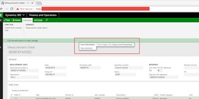 Display Menu Item Form View Option In D365 - Dynamics 365
