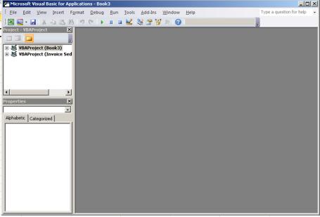 Jendela Microsoft Visual basic Editor