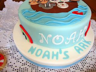 Baby shower Noah de fondant