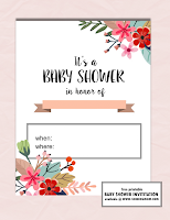 free girl baby shower invitations