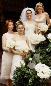 Samantha, Charlotte, Miranda & Carrie, SATC Charlotte's 1st Wedding
