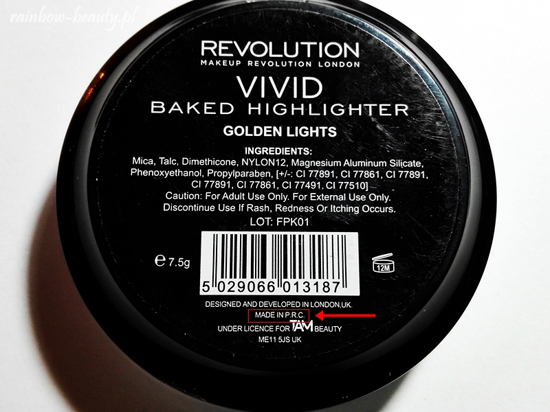 Makeup Revolution London Produkowane W Chinach Rainbow Beauty Blog