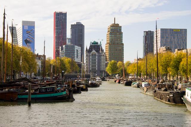 Outono em Roterdã na Holanda