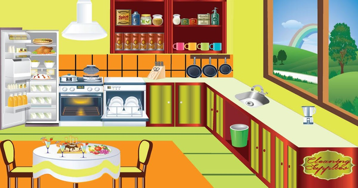 Cartoons Movies kids cleans kitchen game video 2013