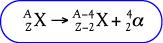 Bentuk umum reaksi pemancaran sinar alfa
