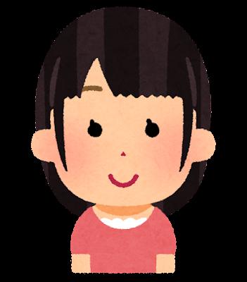 触覚ヘアの女の子のイラスト