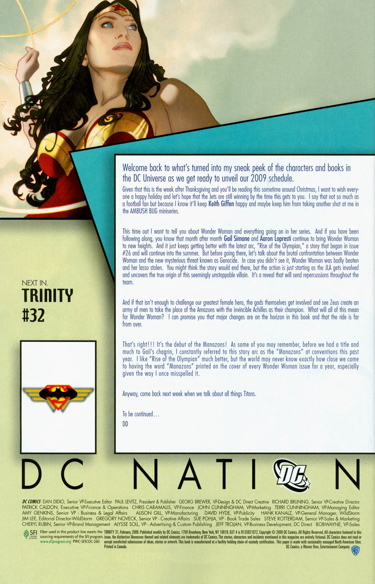 Read online Trinity (2008) comic -  Issue #31 - 35