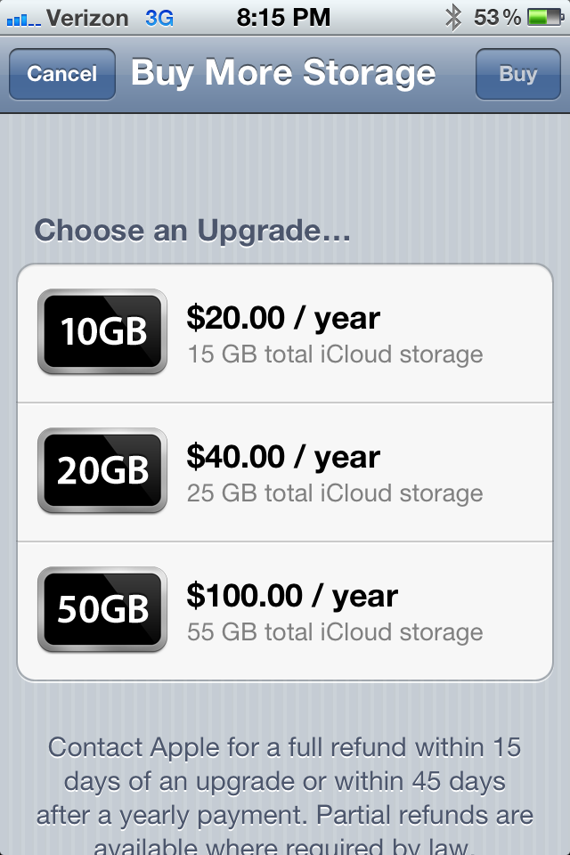 Apple iCloud Storage Announced and Price Revealed