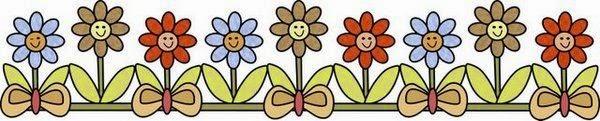 Flores en Caricatura: Bordes y Esquinas para Imprimir Gratis.