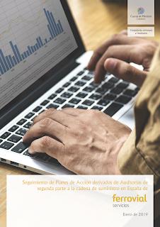 Portada del trabajo por el que Cuevas y Montoto Consultores dará seguimiento a los Planes de Acción derivados de las Auditorías realizadas a sus Proveedores Críticos en 2017