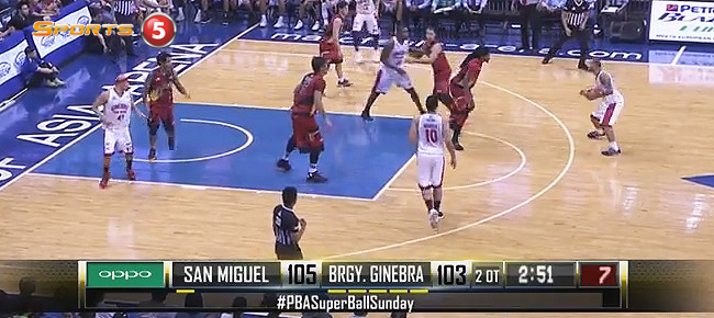 San Miguel def. Ginebra, 111-105 in 2OT (REPLAY VIDEO) August 14