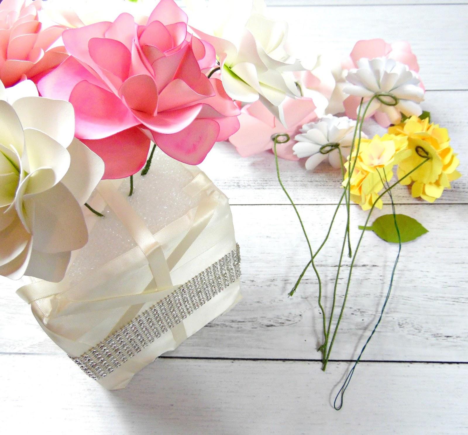DIY Paper Floral Centerpiece - Catching Colorlfies