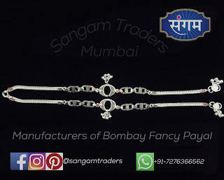 bracelet piece silver payal
