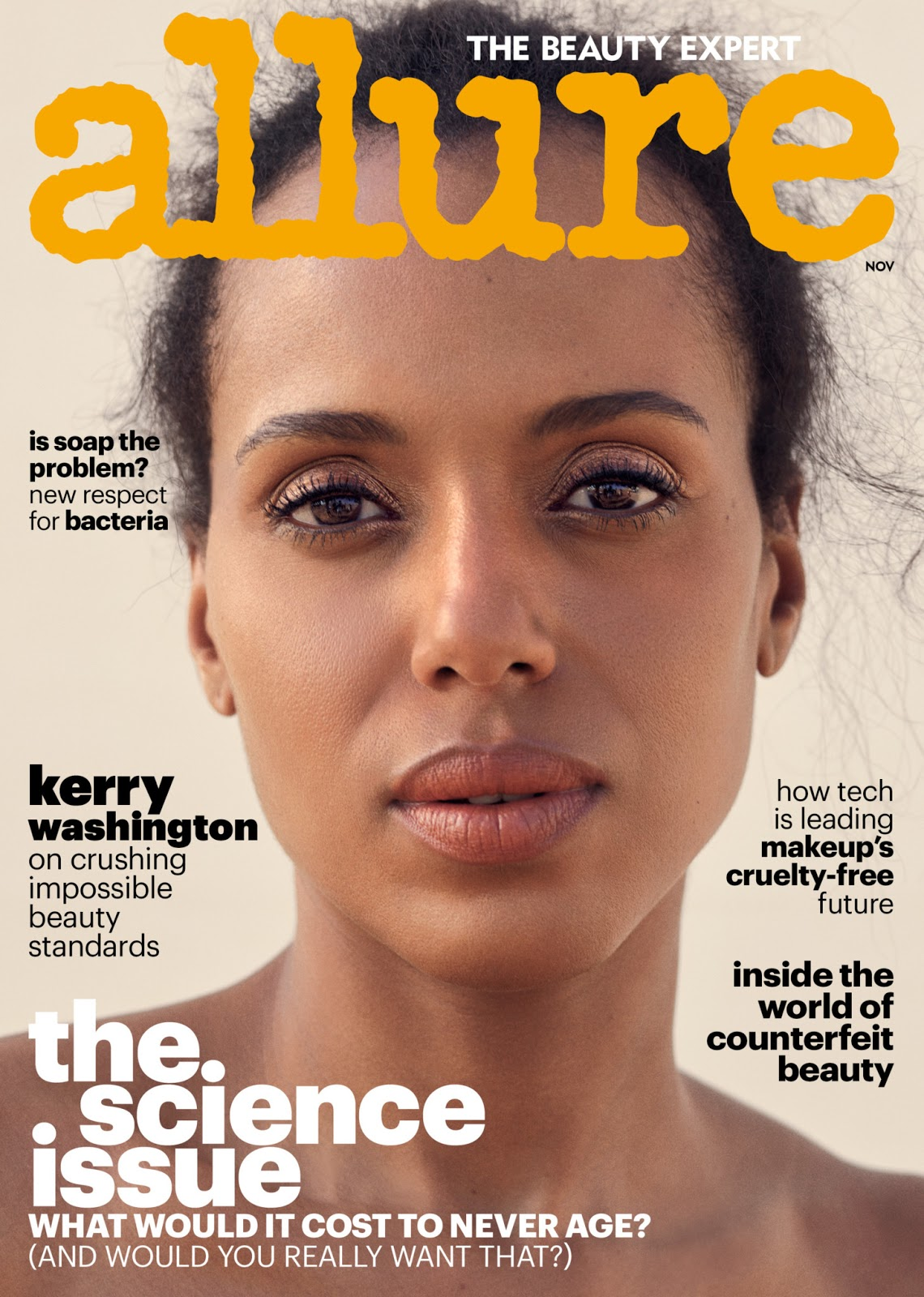 "Actress Kerry Washington Bares it All on Allure Magazine: ""I Wear My Natural Hair Now For My Children"""