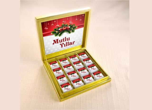 hediyelik yılbaşı çikolatası