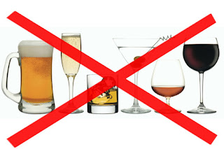 avoid alcohol to lower high blood pressure