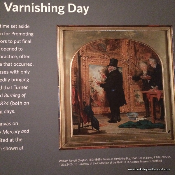Varnishing Day, Turner exhibit at de Young Museum in San Francisco