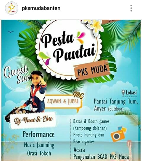 Pesta Pantai PKS Muda Banten
