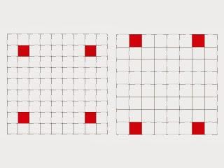 9×9、8×8のマス目の図表