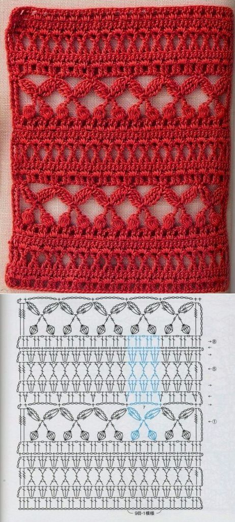 266454ac 60 Puntos Fantasía en crochet con muestras