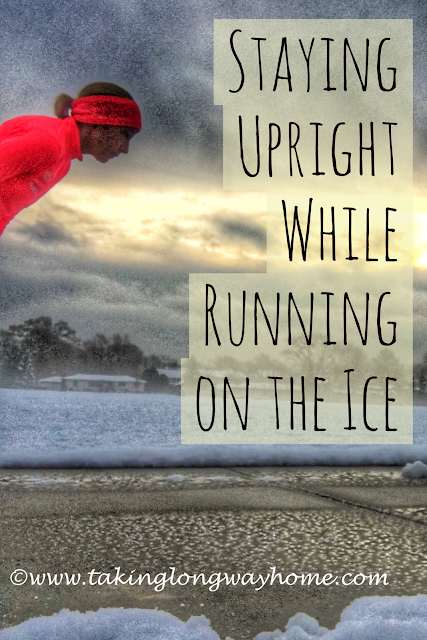 Staying Upright While Running on the Ice