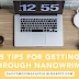 5 Tips for Getting Through NaNoWriMo