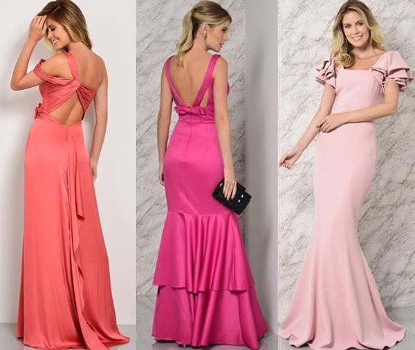 vestido longo liso sem bordado