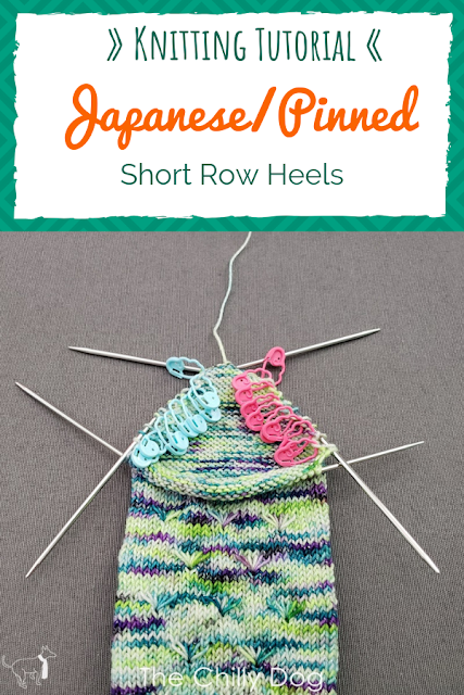 Knitting Video Tutorial: Learn how to knit Japanese, or pinned, short row sock heels from the toe-up or cuff-down